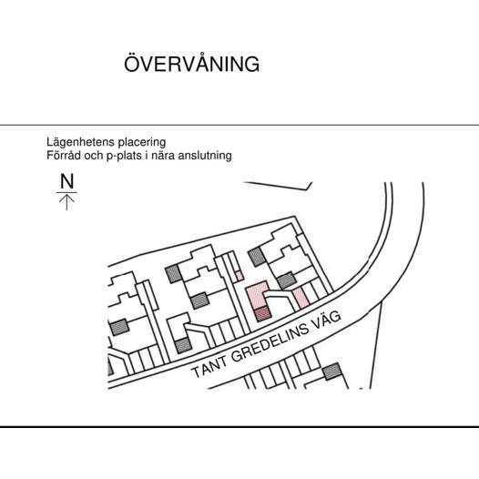 Linjerad ritning på bostadsområde